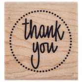 Thank You Circle Seal Rubber Stamp